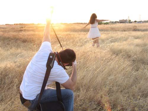 Making of sesión de fotos con el fotógrafo Vicente Alfonso