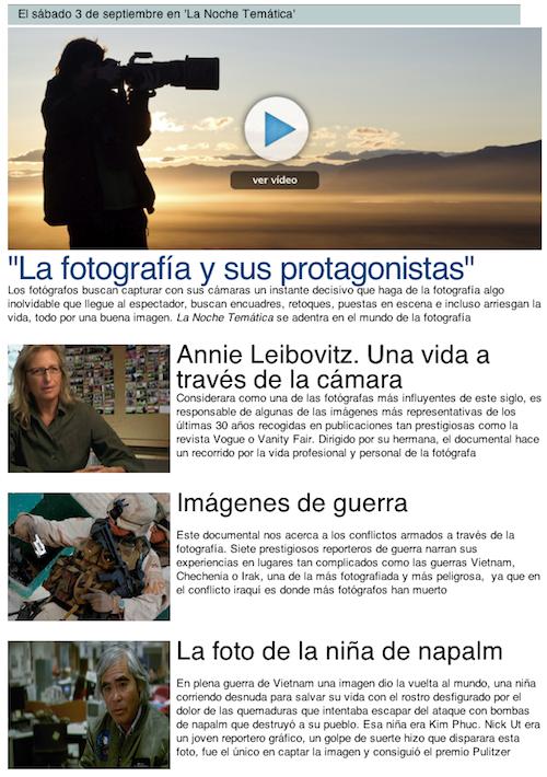 La fotografía y sus protagonistas, en el blog de Vicente Alfonso