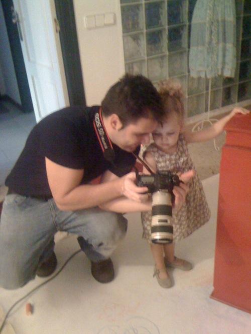 Sesión de fotos con Estela por el fotógrafo Vicente Alfonso