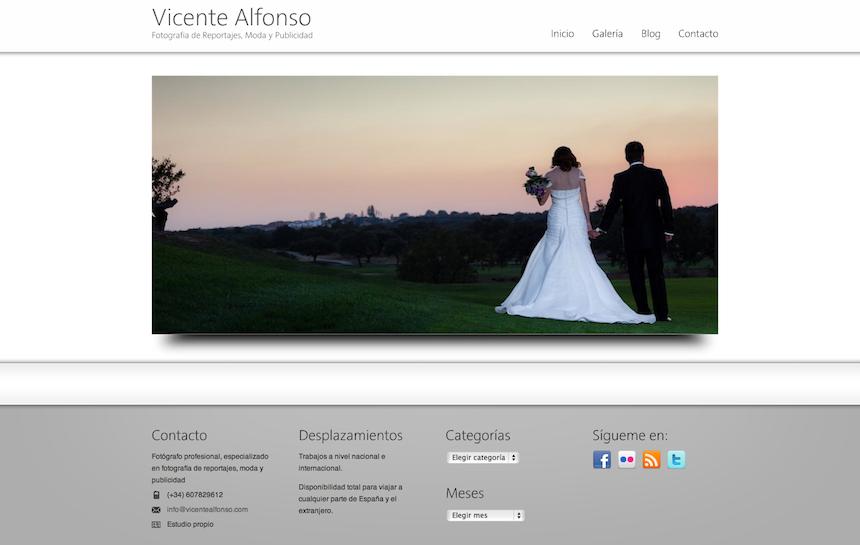 Web del fotógrafo profesional Vicente Alfonso