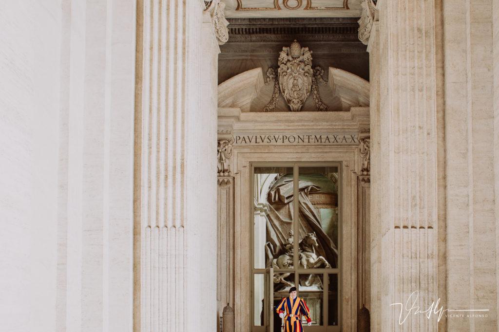 Seguridad en el Vaticano.