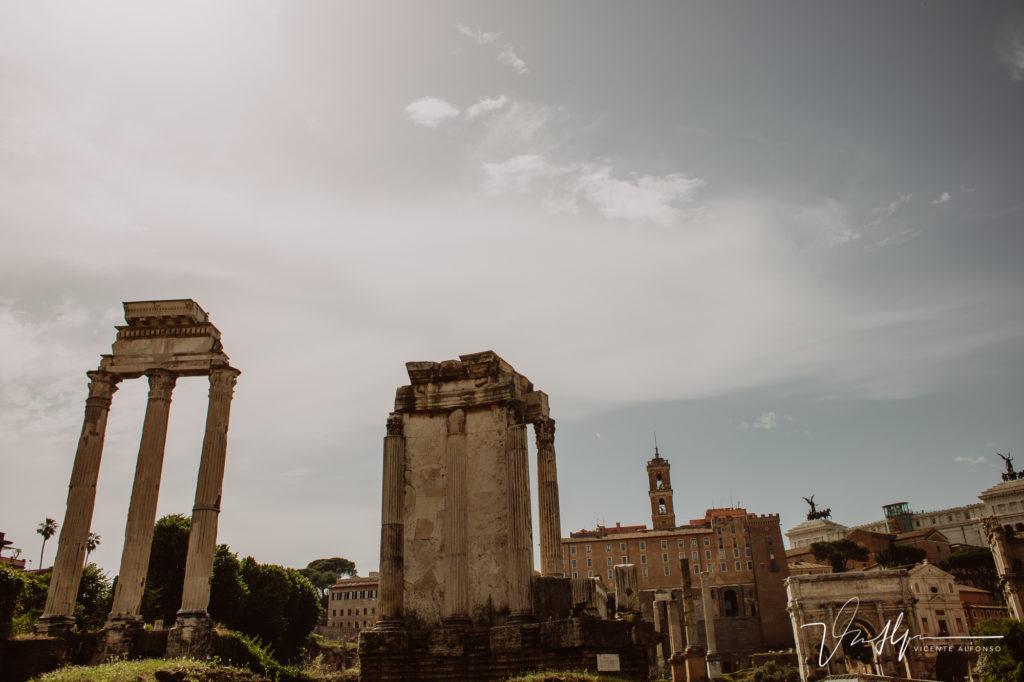Columnas en el Foro Romano.