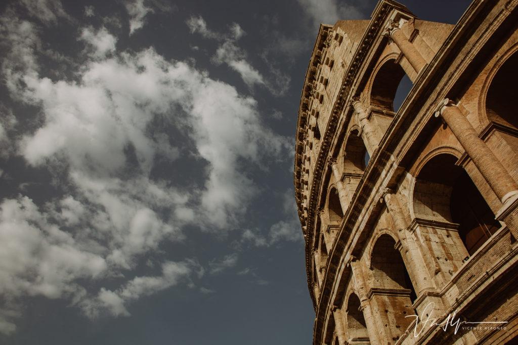El Coliseo Romano por fuera.