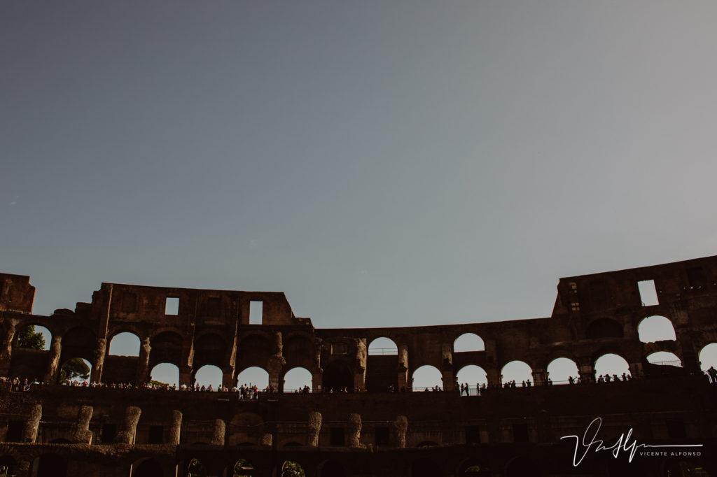 El Coliseo Romano por dentro.