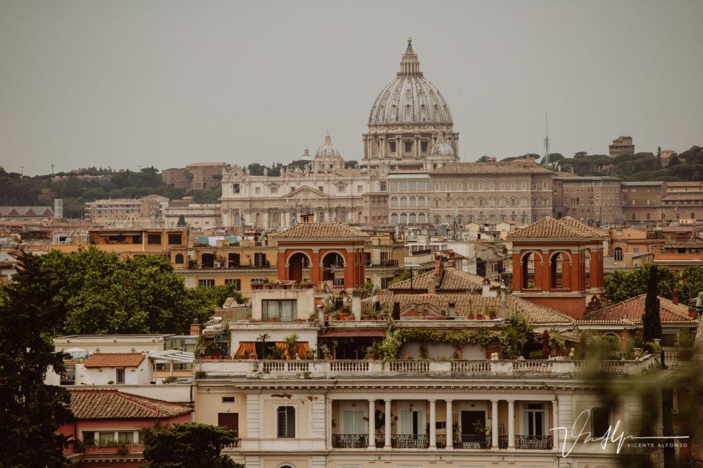 Vista aérea de Roma.
