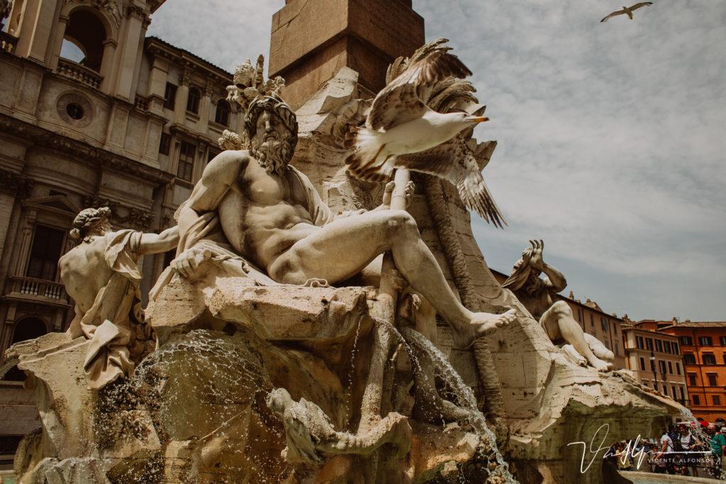 Esculturas talladas en Roma. Paseo fotográfico por la ciudad de Roma