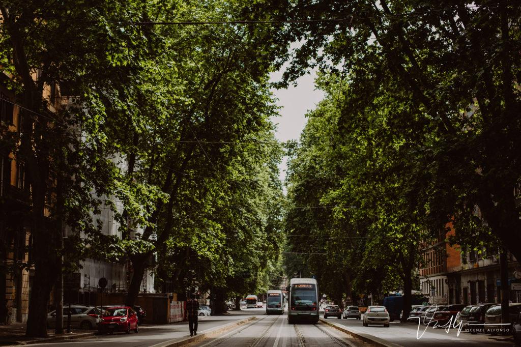 Tranvía en Roma. Paseo fotográfico por la ciudad de Roma