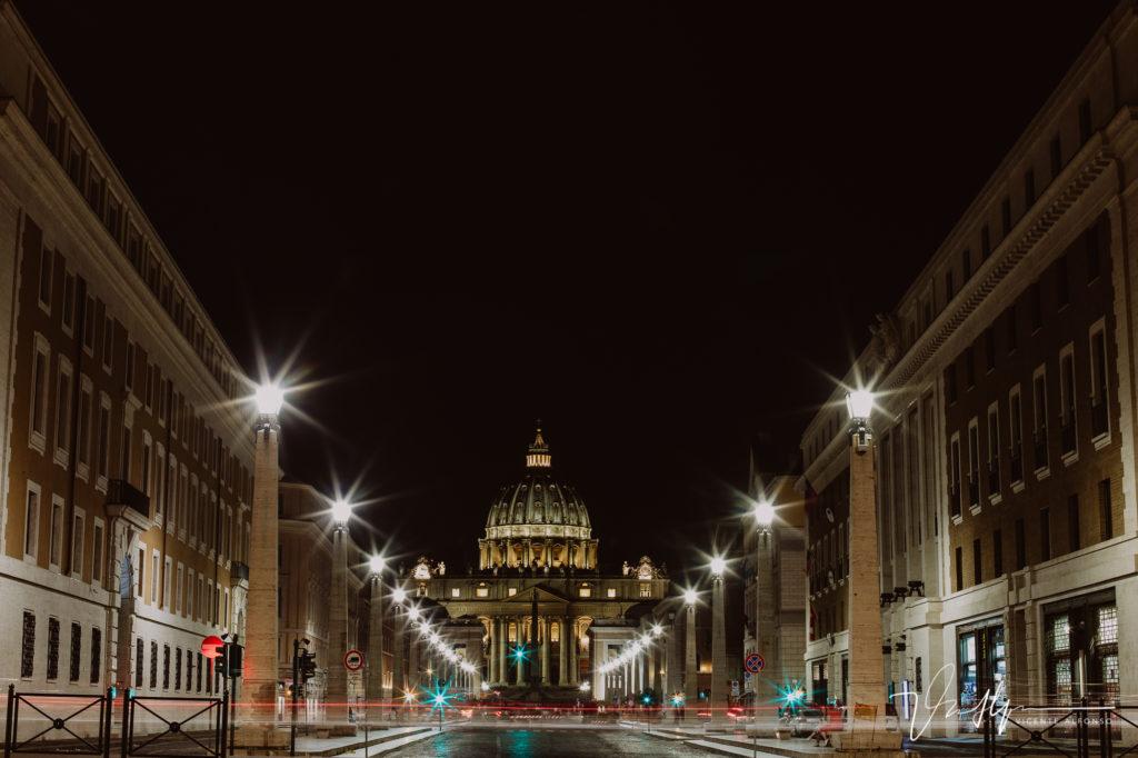Vaticano larga exposición desde Roma. Paseo fotográfico por la ciudad de Roma